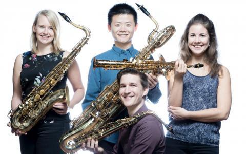 Ardemus Quartet in Dorpskerk Wilp bij Jonge Meesters Wilp